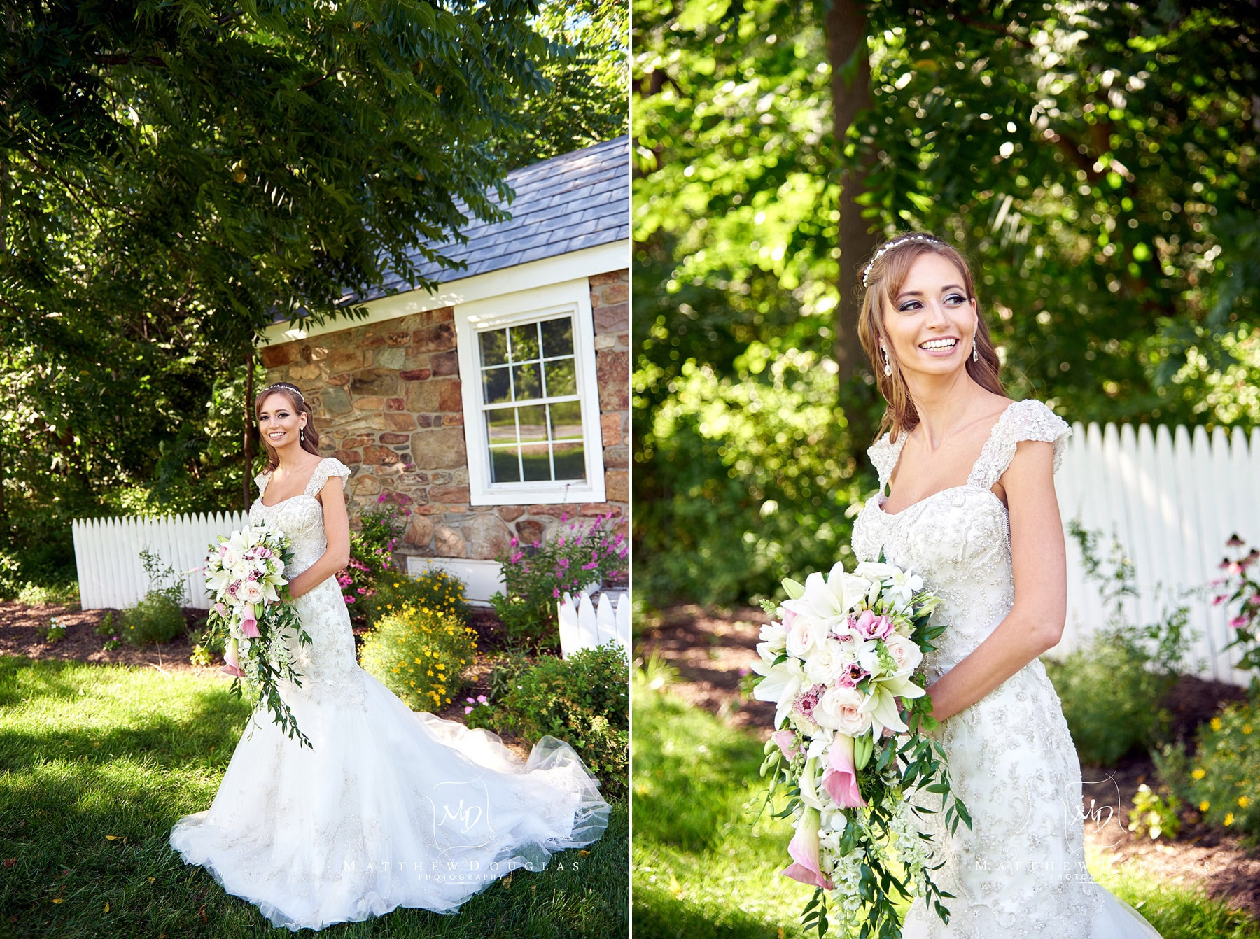 beautiful bride at the farmhouse at the grand colonial