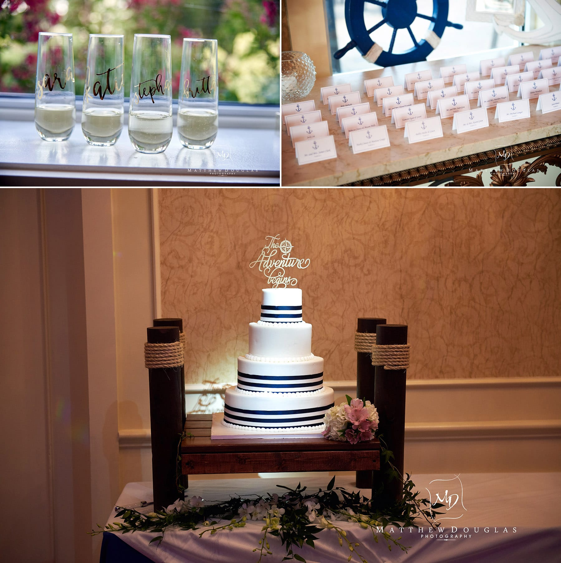wedding cake and details at the farmhouse at the grand colonial