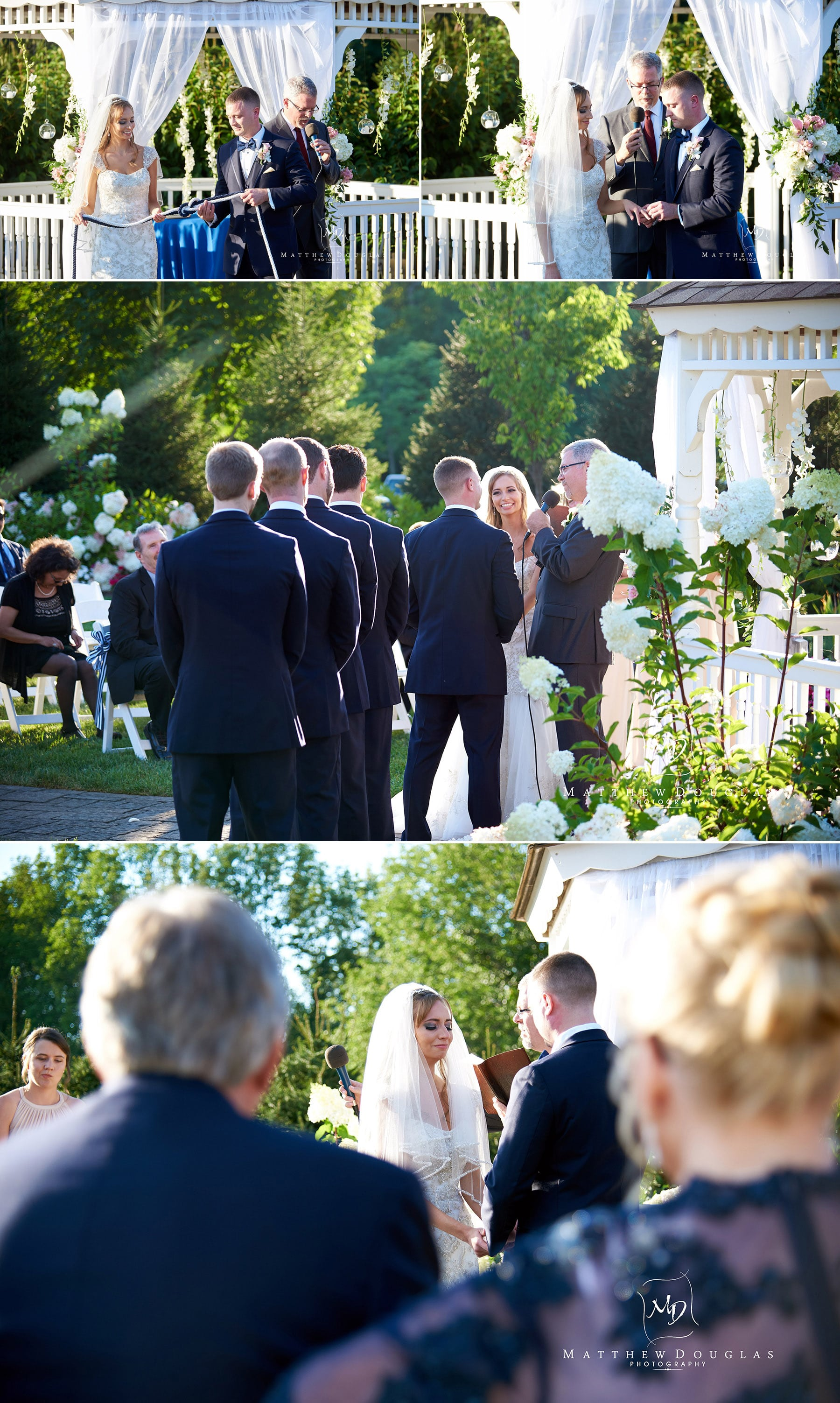 wedding ceremony at the farmhouse at the grand colonial