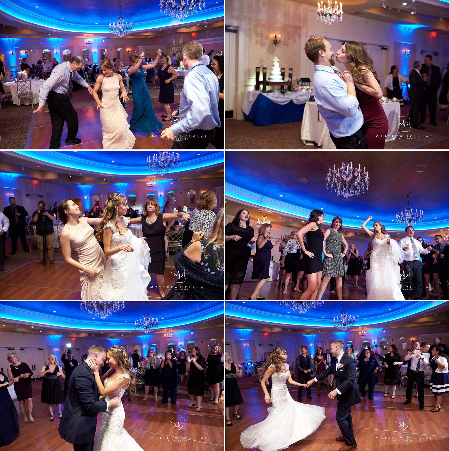 packed wedding dance floor at the farmhouse at the grand colonial