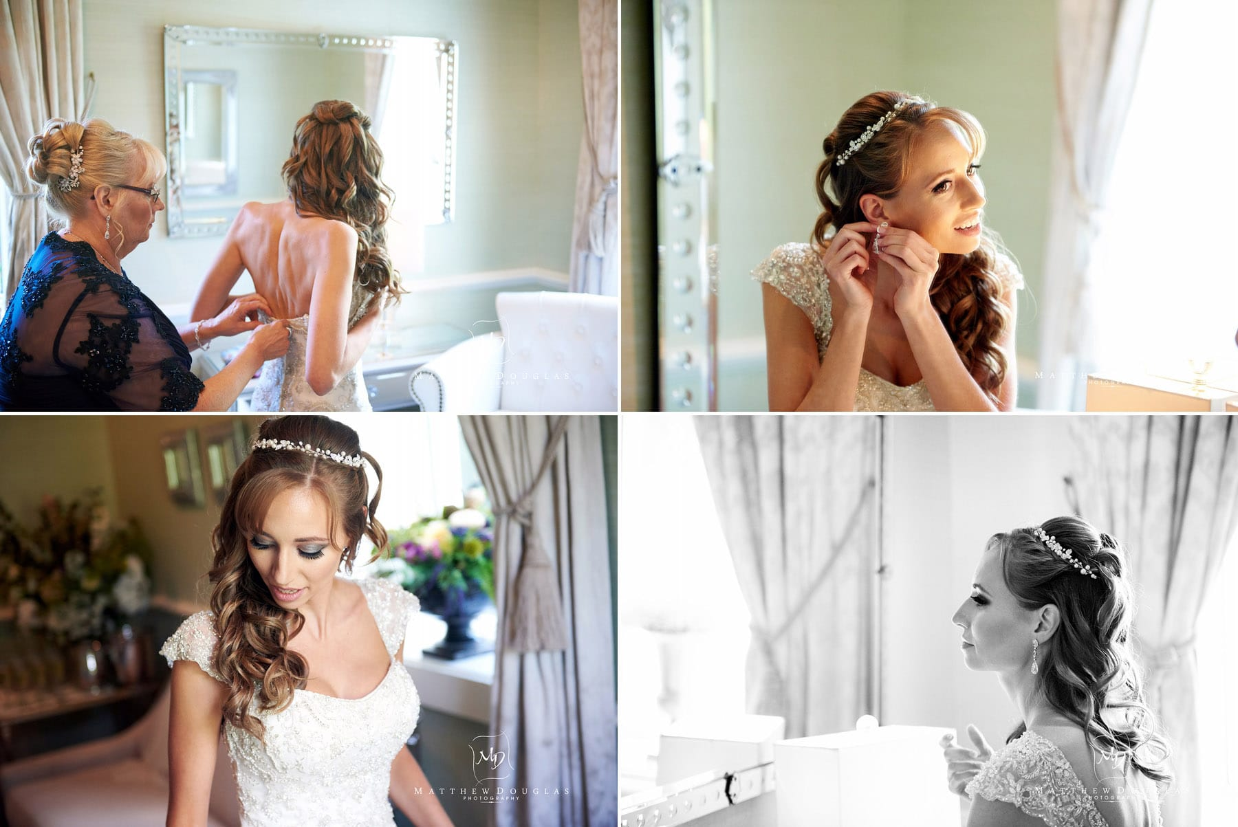 bride prep at the farmhouse at the grand colonial