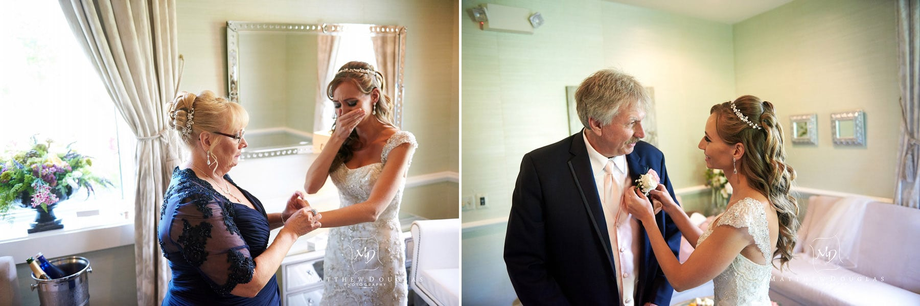 emotional bride at the farmhouse at the grand colonial