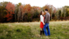 fall clinton nj engagement photo