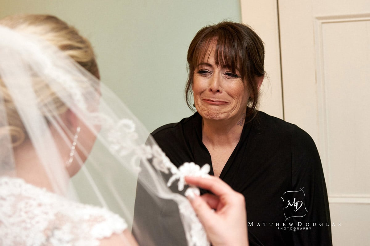 Bride getting ready photo at Davids Country Inn