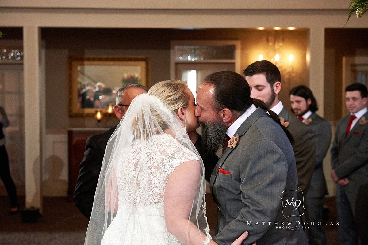 wedding ceremony photo at Davids Country Inn