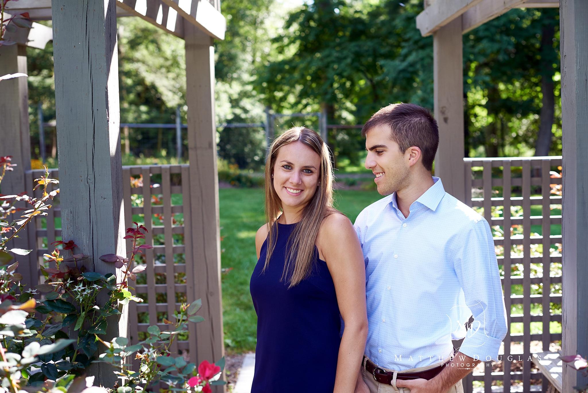 Engagement photos at the Hunterdon County Arboretum