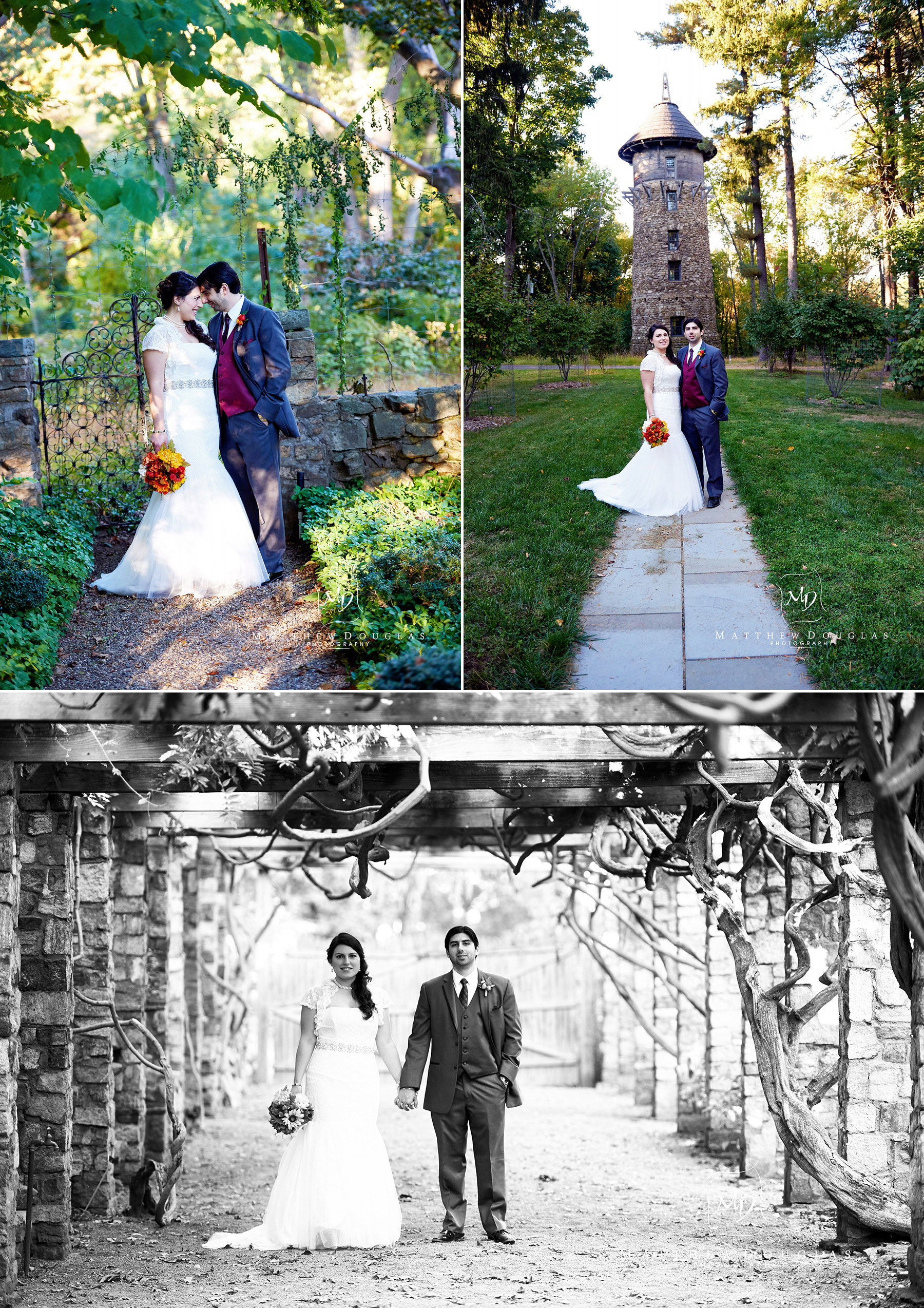 Wedding photos at the olde mill inn basking ridge nj