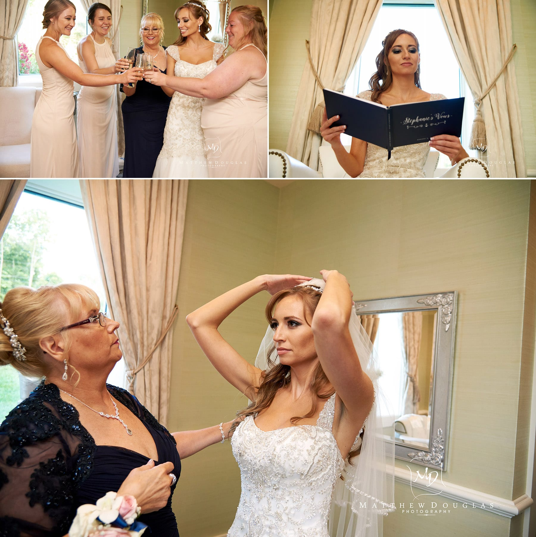 bride before ceremony at the farmhouse at the grand colonial
