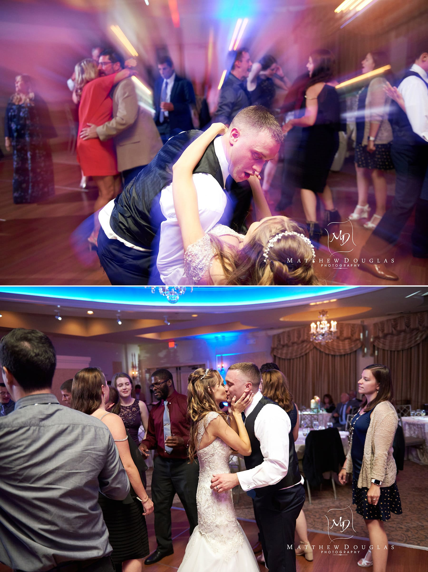 bride groom dancing at the farmhouse at the grand colonial