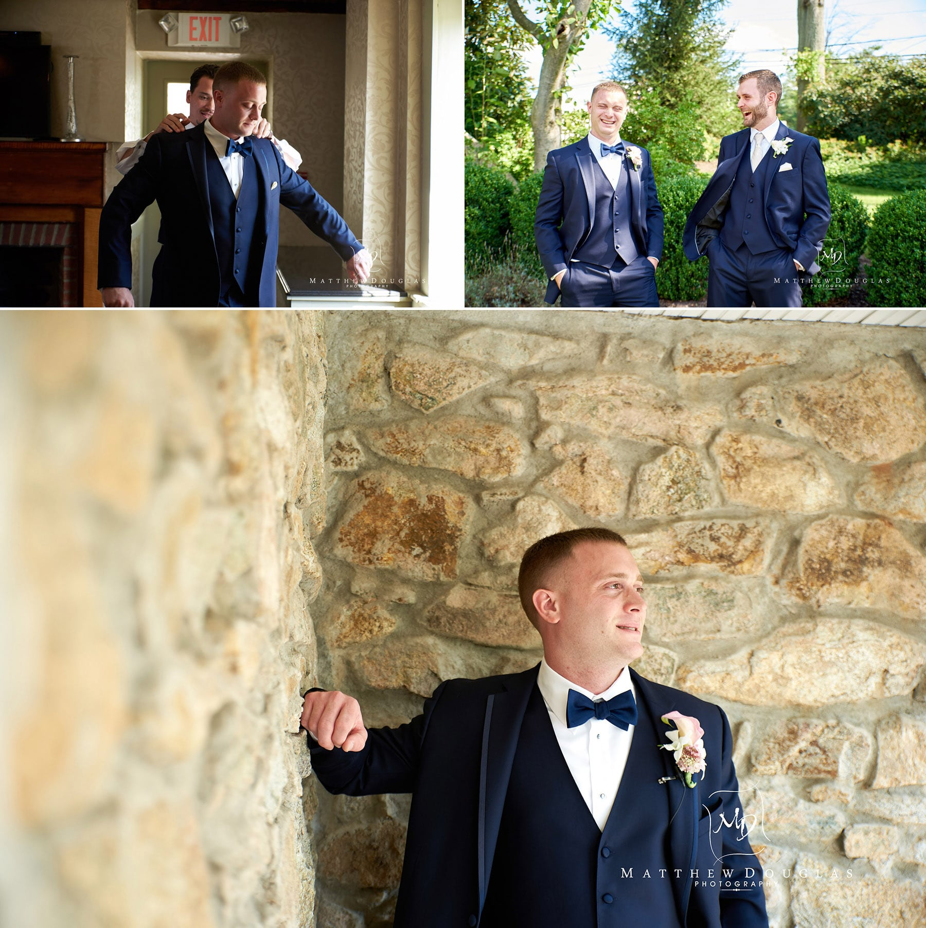 groom prep at the farmhouse at the grand colonial