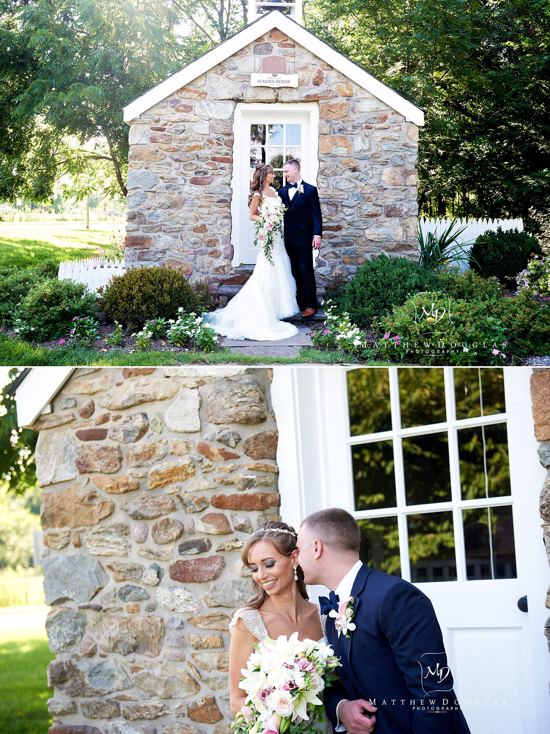wedding photo at the schoolhouse at the farmhouse at the grand colonial