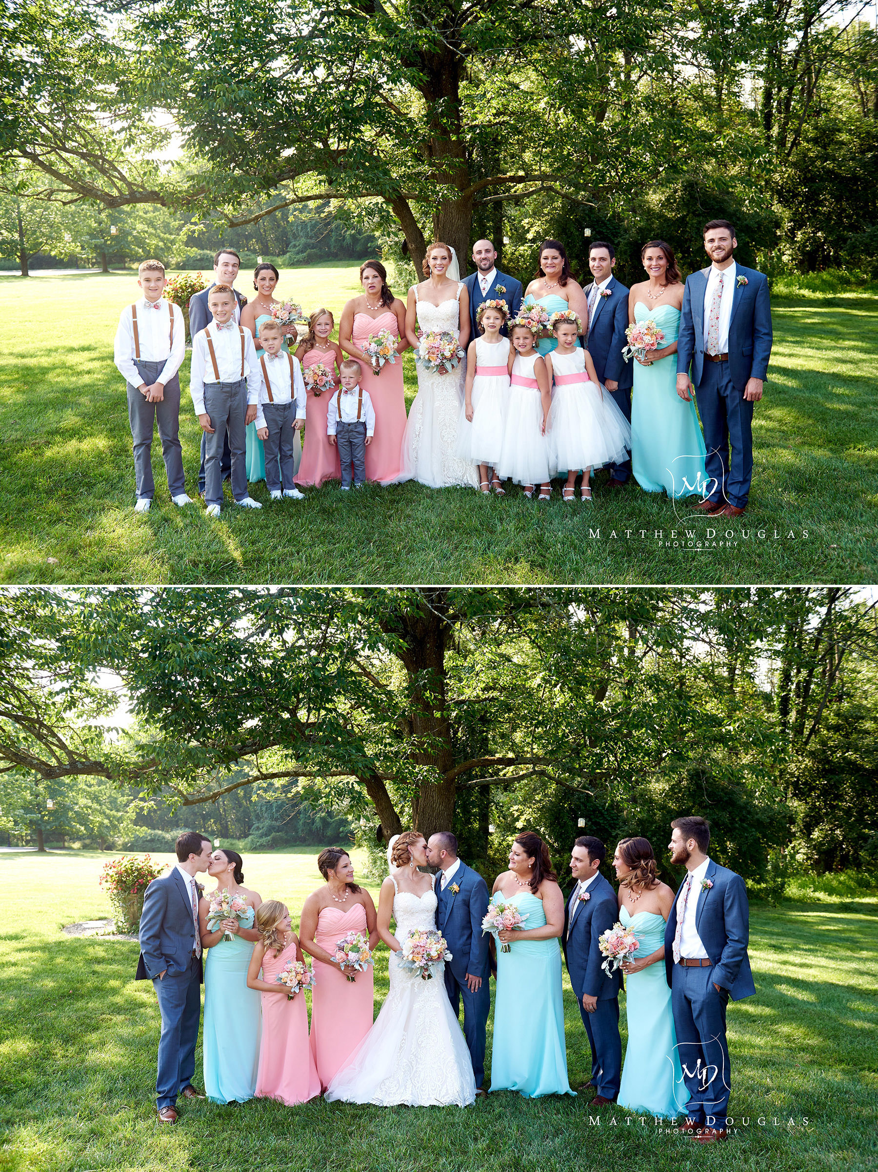 wedding party photos at The Farmhouse at The Grand Colonial