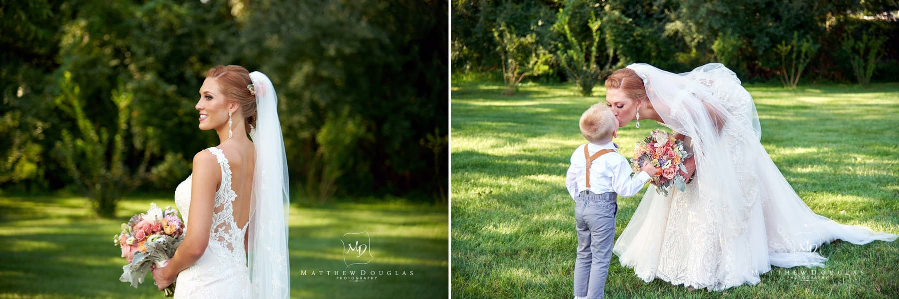 bride with her ringbearer at The Farmhouse at The Grand Colonial