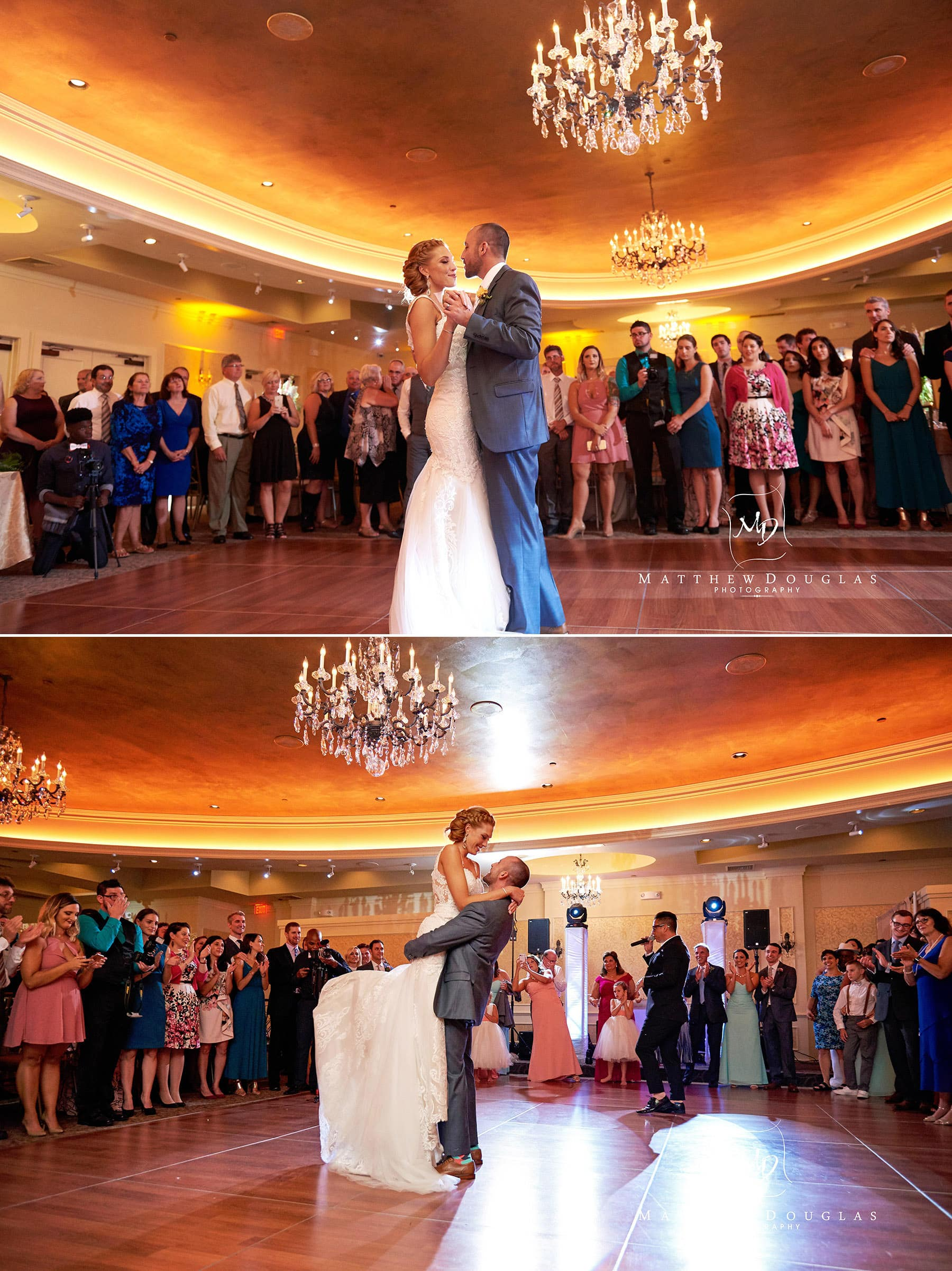 romantic first dance at The Farmhouse at The Grand Colonial