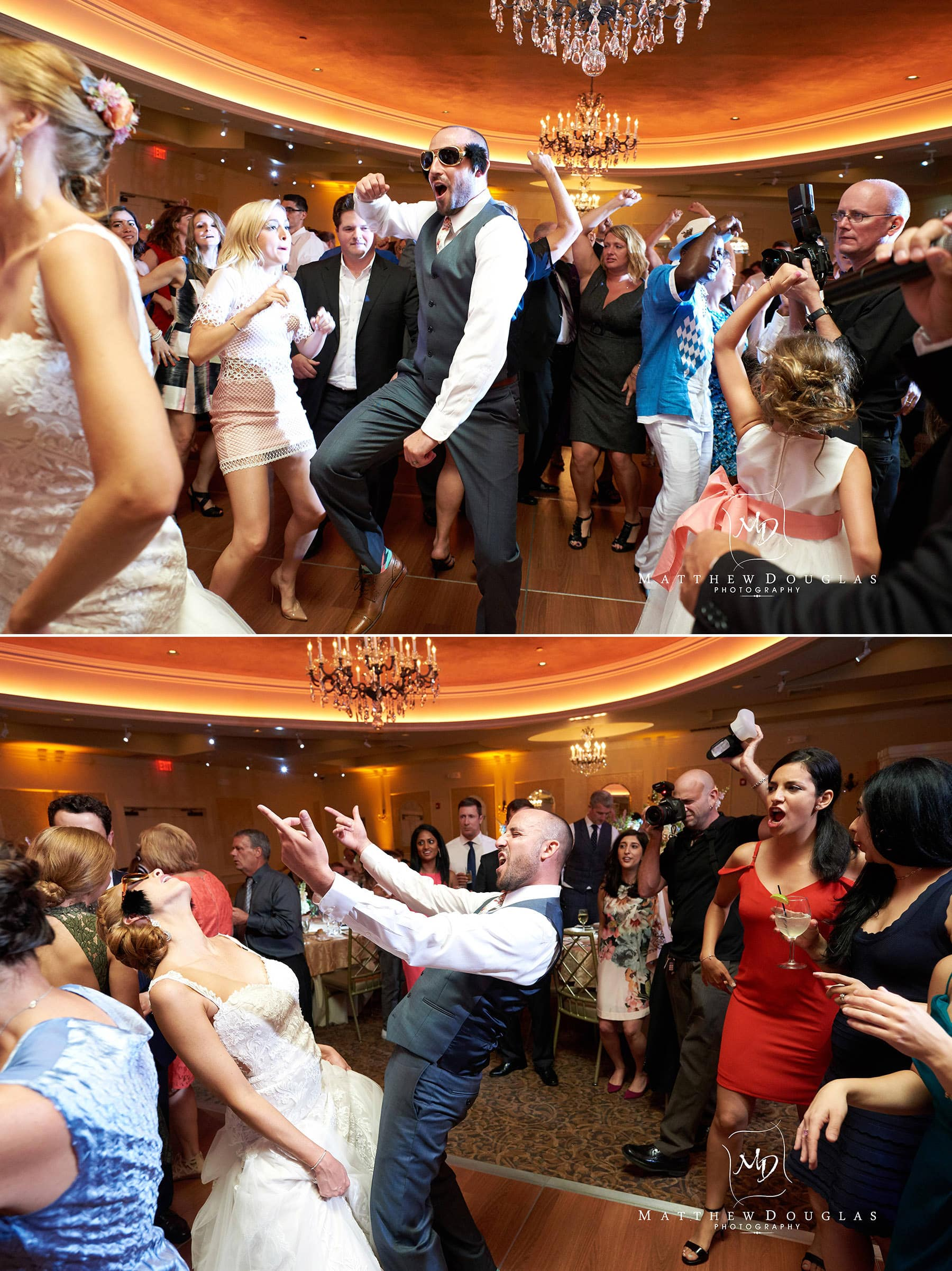 crazy wedding dancefloor at The Farmhouse at The Grand Colonial
