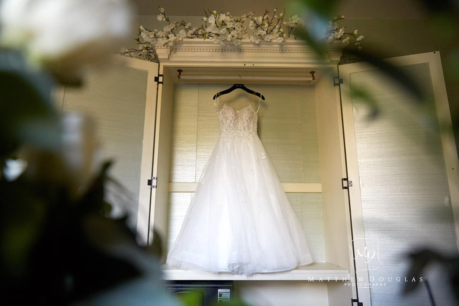 wedding dress detail photo at the farmhouse at the grand colonial