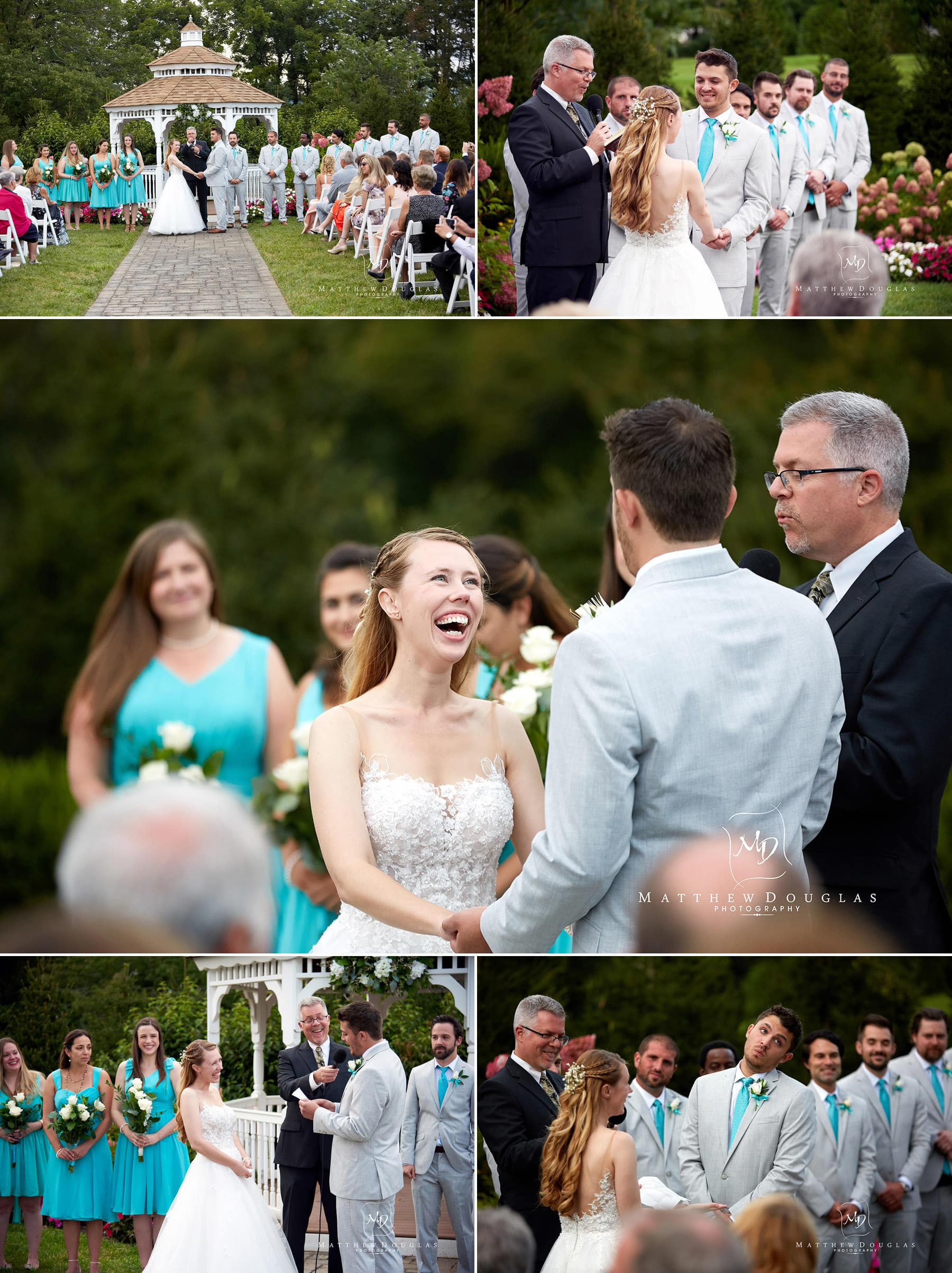 wedding ceremony site at the farmhouse at the grand colonial