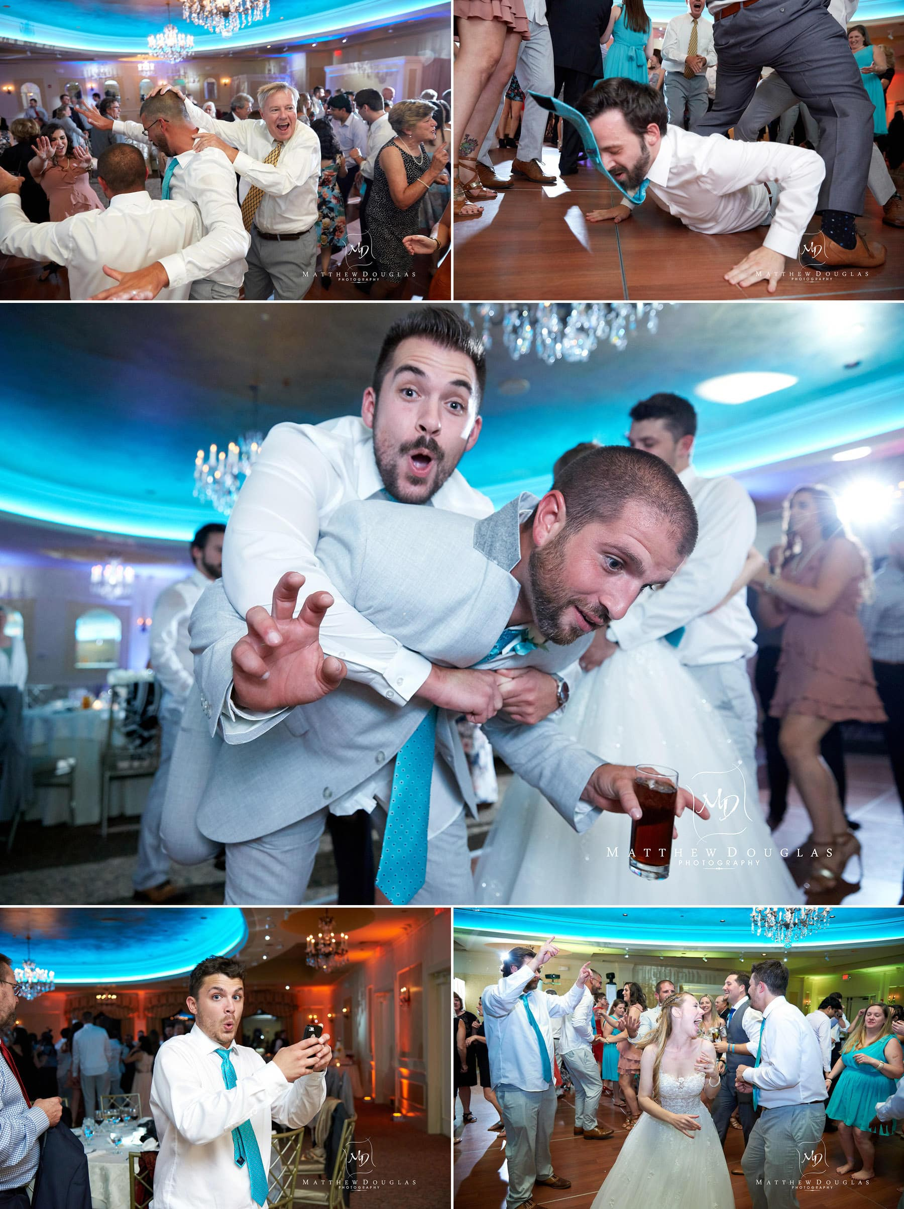 fun wedding dance floor photos at the farmhouse at the grand colonial