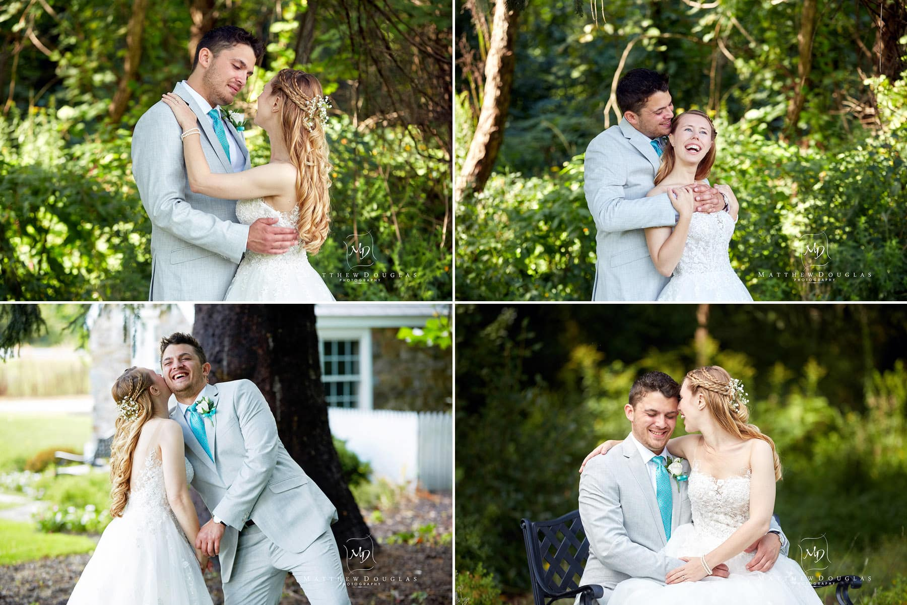 fun romantic wedding photos at the farmhouse at the grand colonial