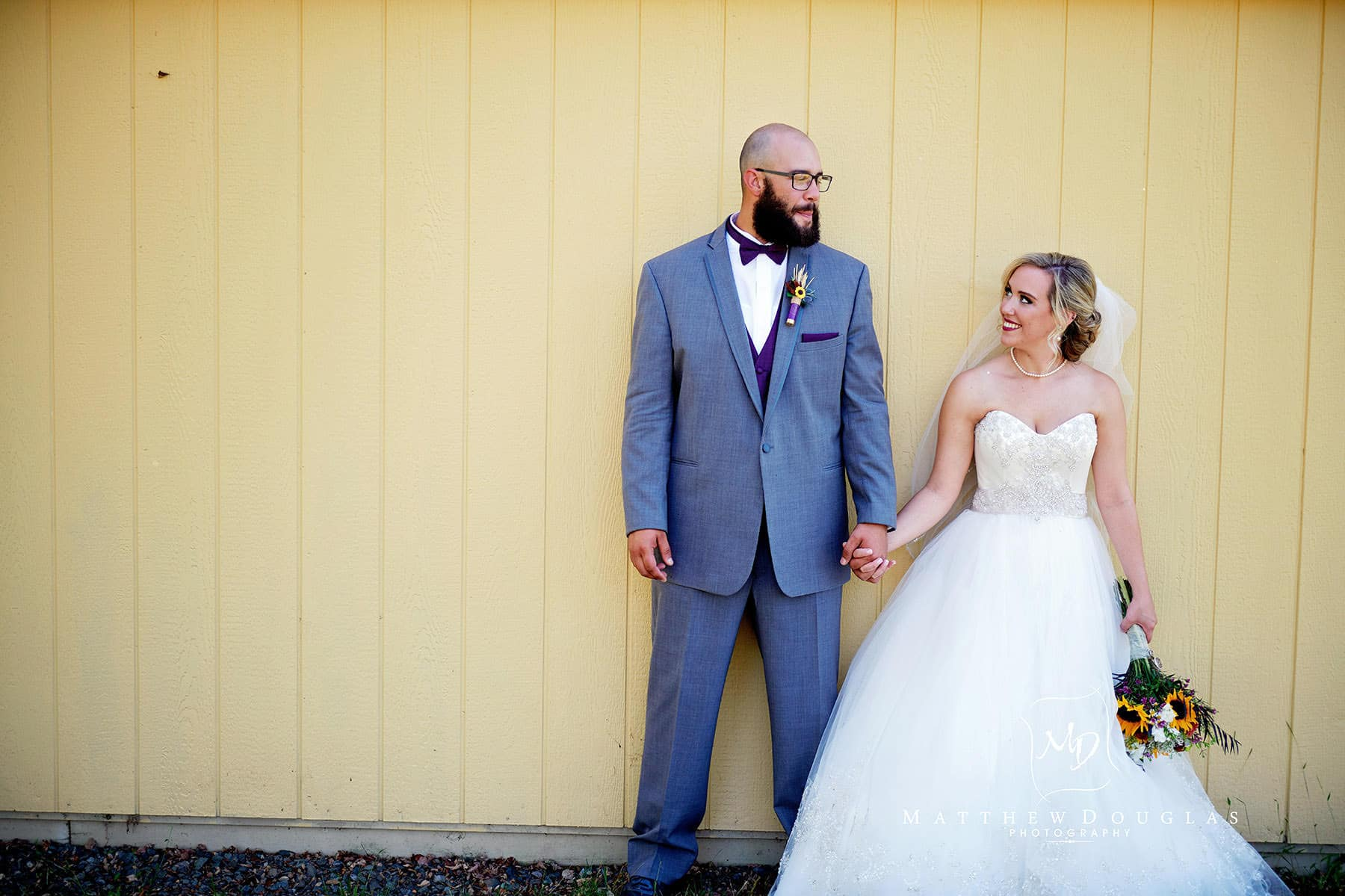 bride and groom at brady life camp