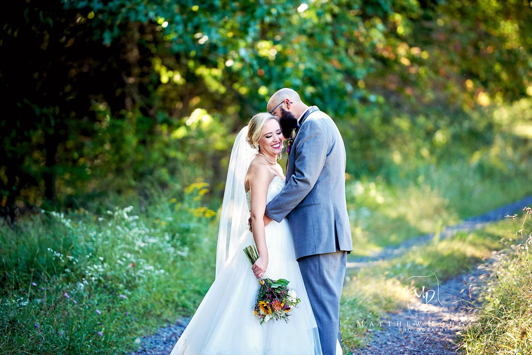 romantic wedding photo at brady life camp