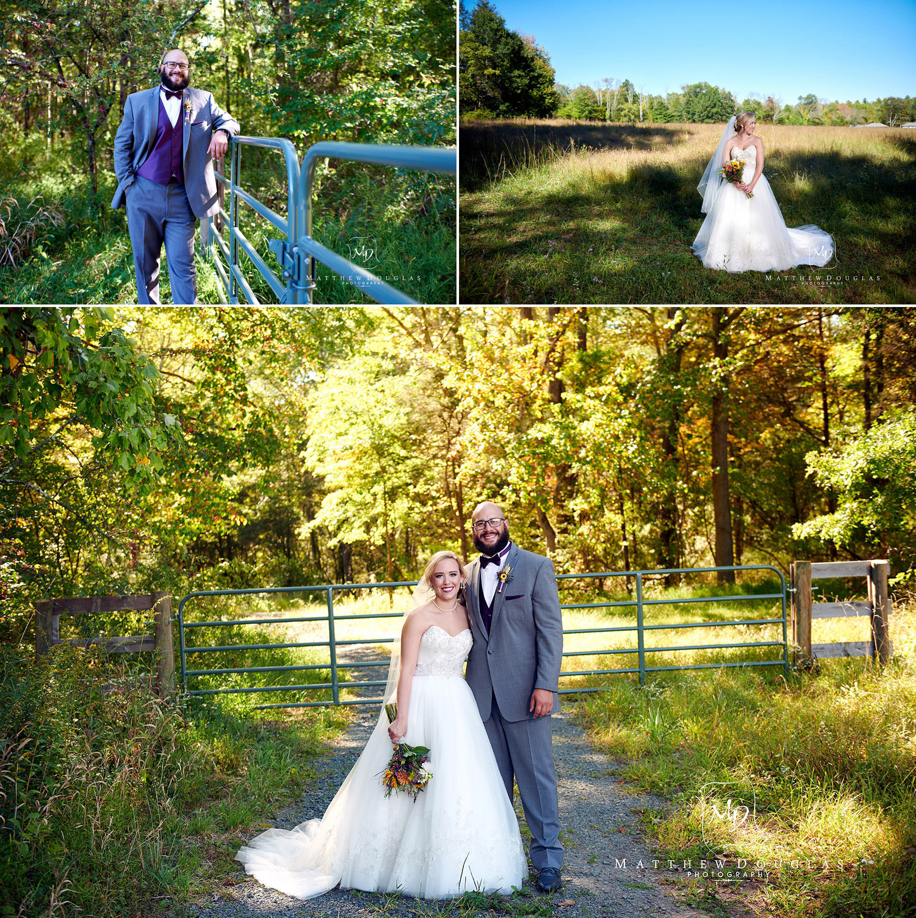 fall wedding at brady life camp