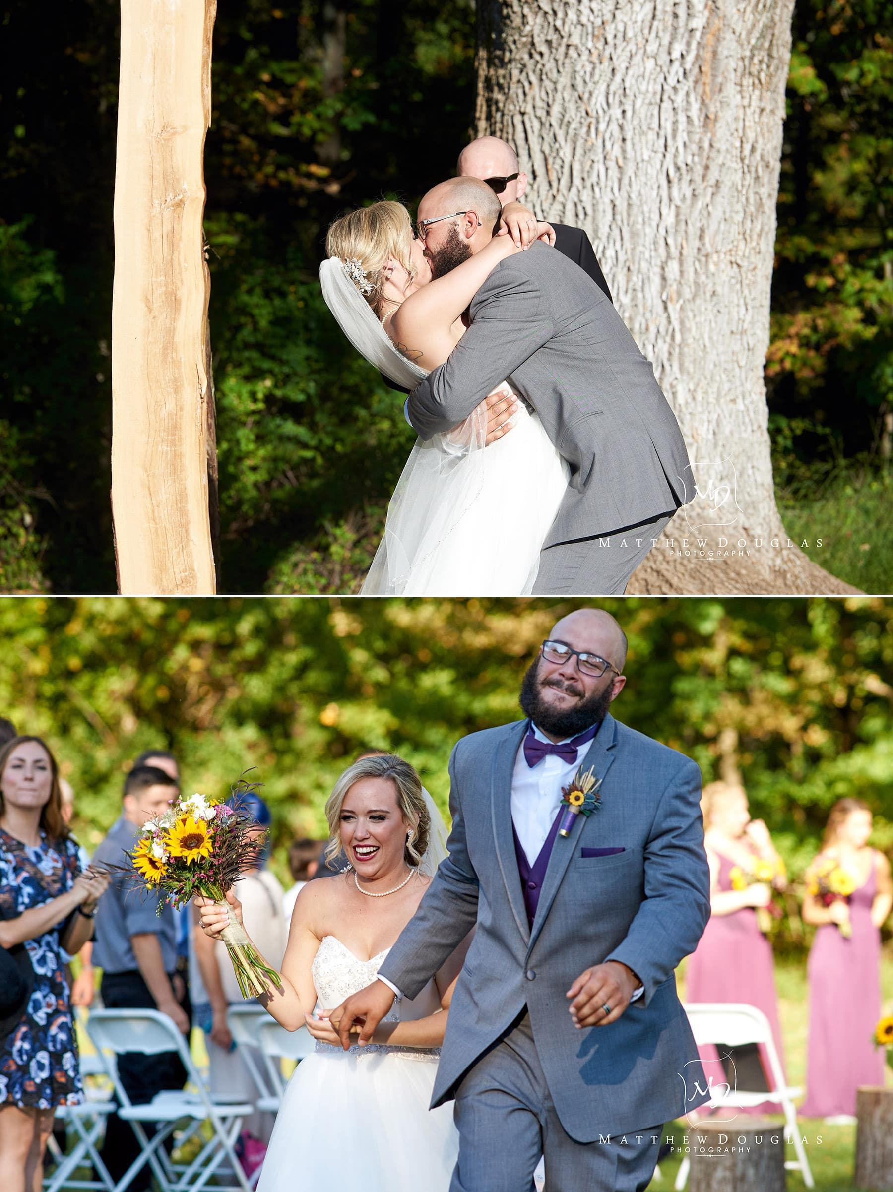 wedding first kiss brady life camp