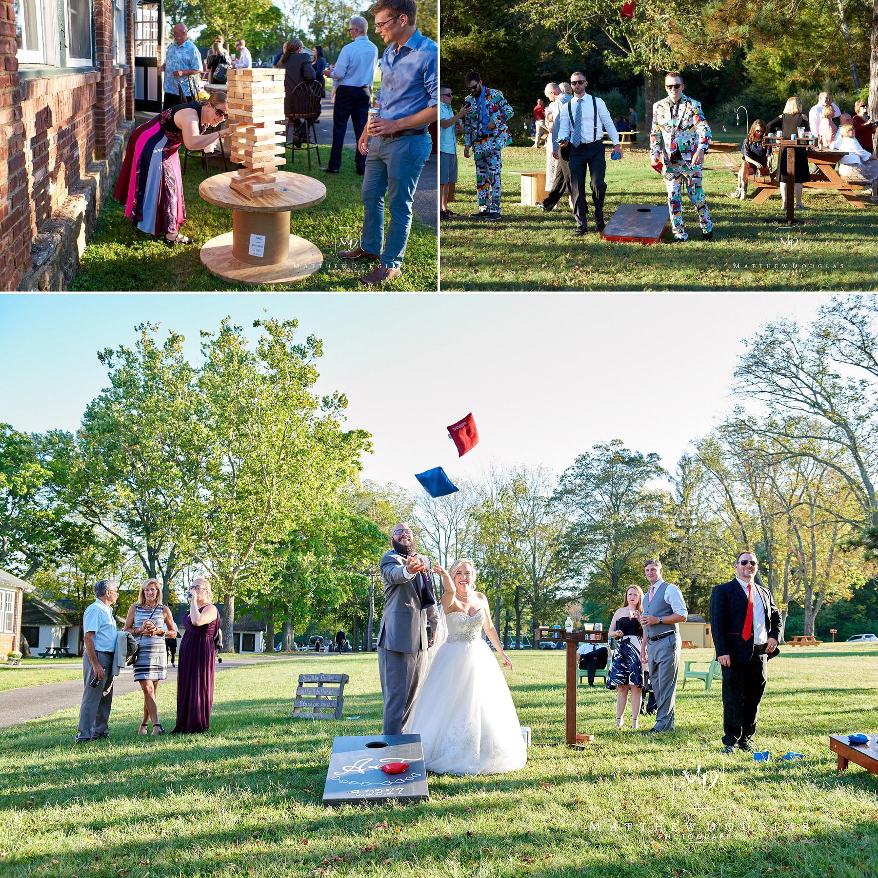 outdoor wedding games at brady life camp