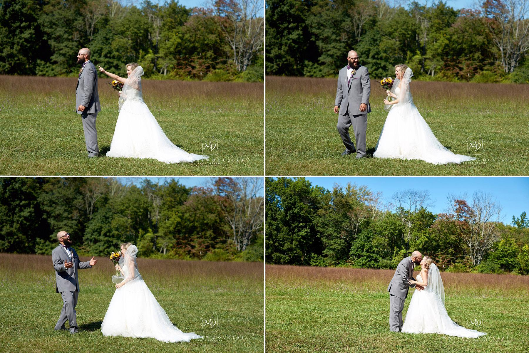 wedding first look at brady life camp