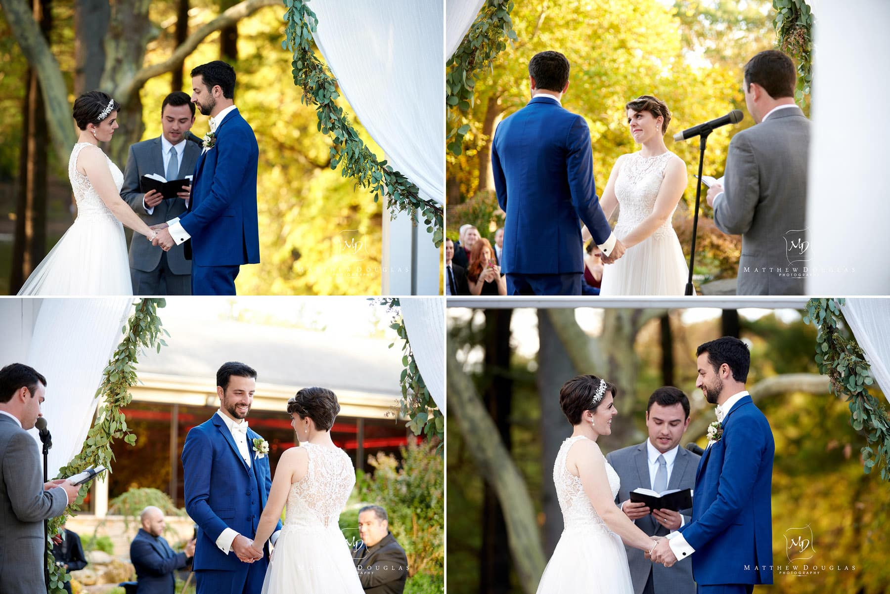 fall wedding ceremony at The Estate at Farrington Lake
