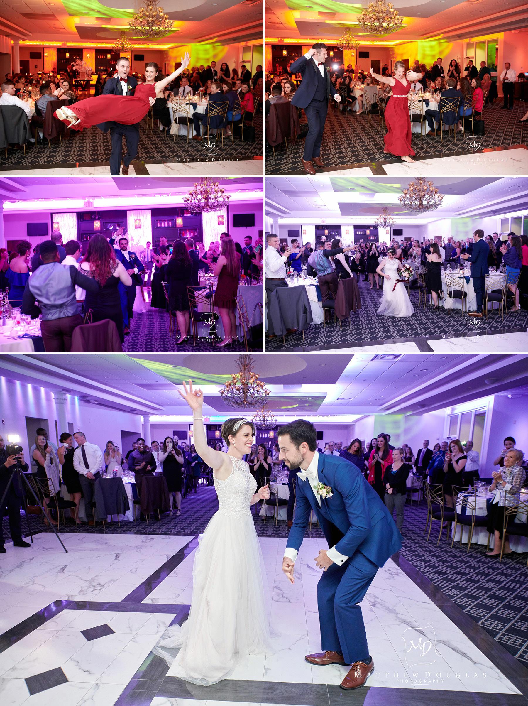 wedding grand enterance at The Estate at Farrington Lake