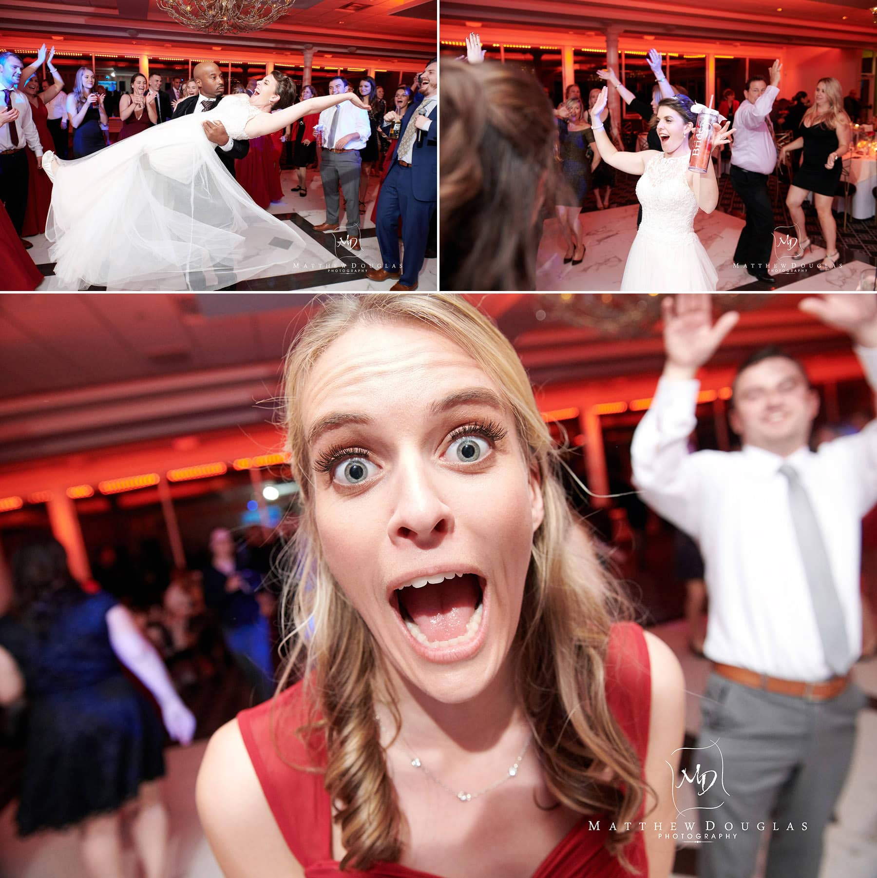 wedding dancing crazy at The Estate at Farrington Lake