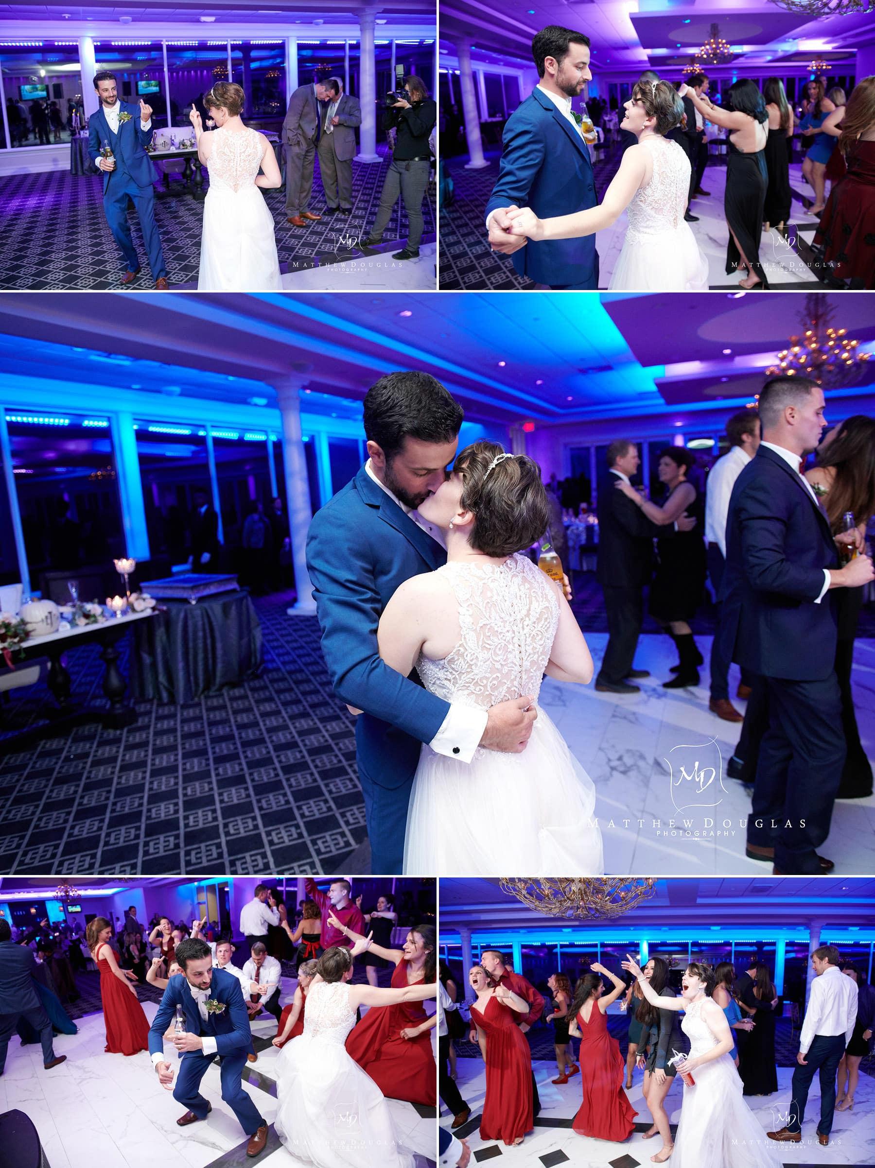 bride groom dancing at The Estate at Farrington Lake