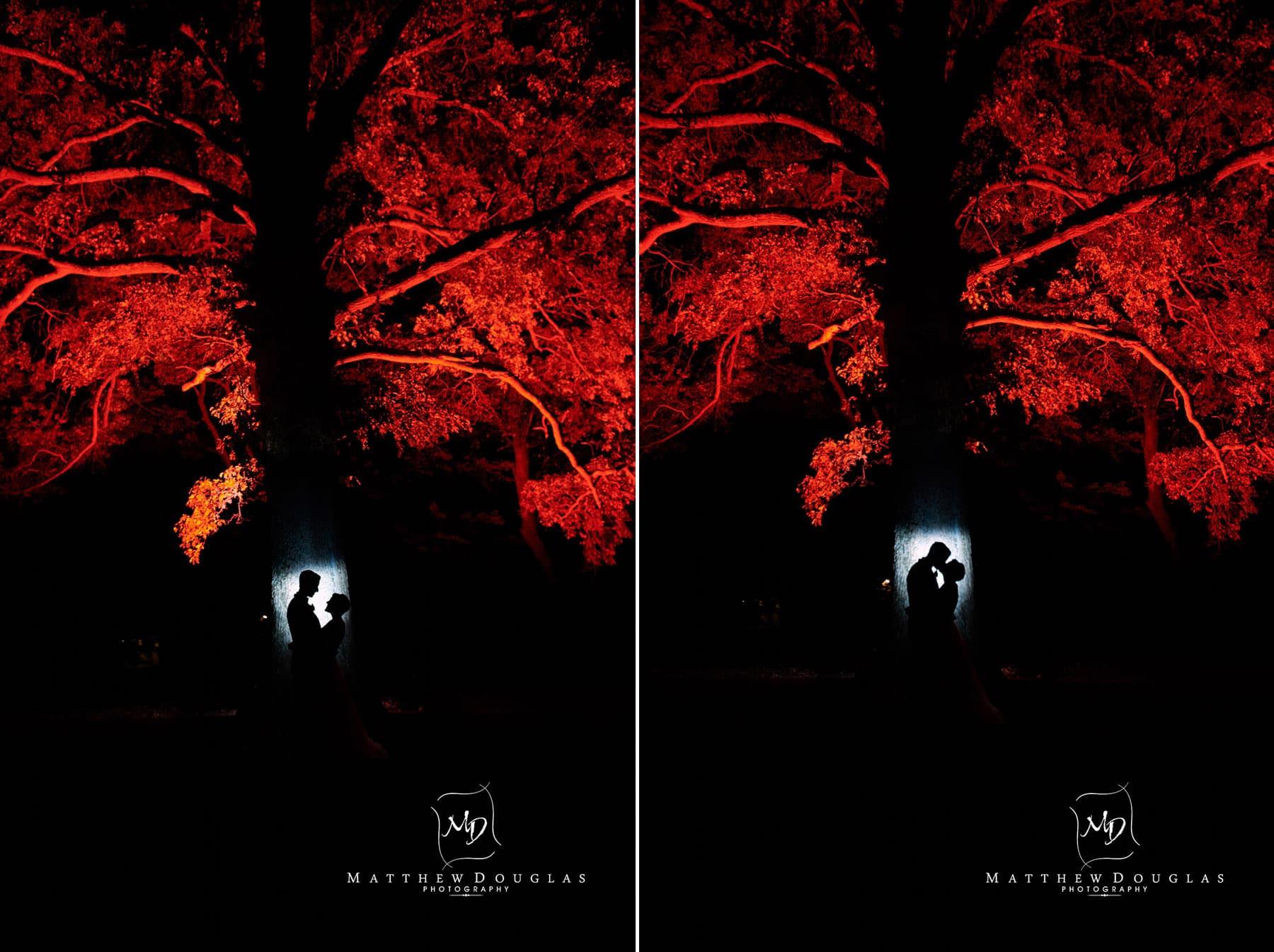 night time wedding photo at The Estate at Farrington Lake