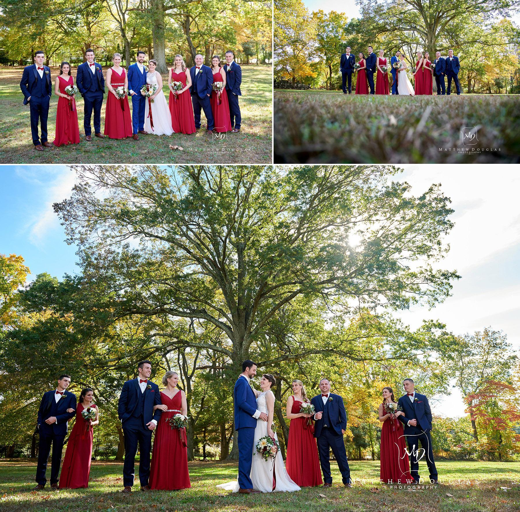 wedding party photos at The Estate at Farrington Lake