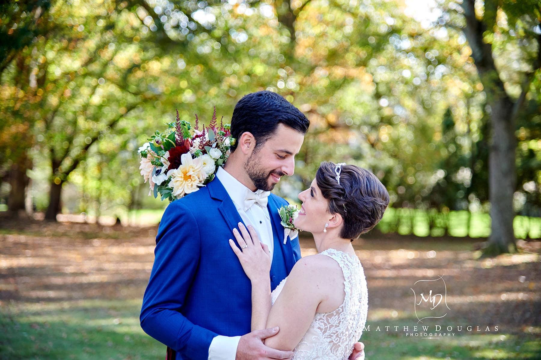 bride + groom at The Estate at Farrington Lake