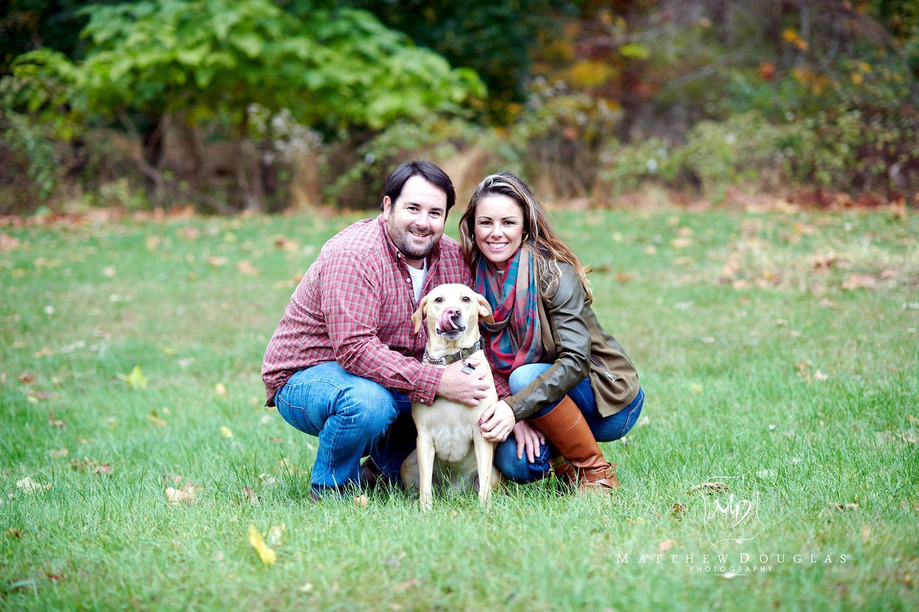 hunterdon county nj engagement photo with dog