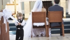 ring bearer in church wedding photo