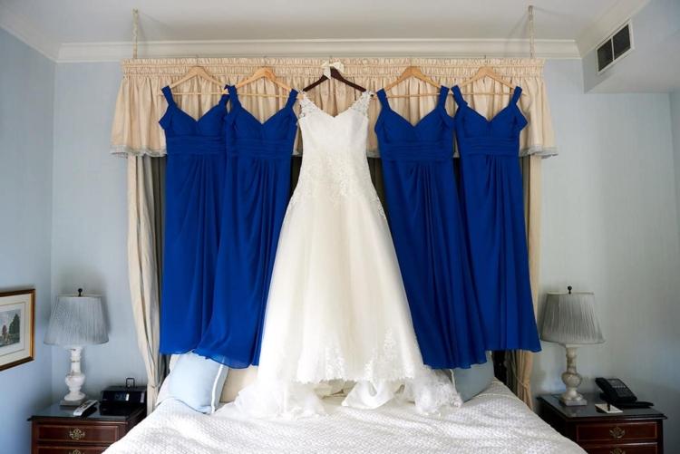 bride dress at bernards inn wedding