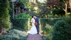 cross estate garden wedding photo