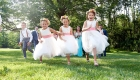 farmhouse grand colonial wedding cute flower girls photo