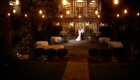 olde mill inn wedding photo at night