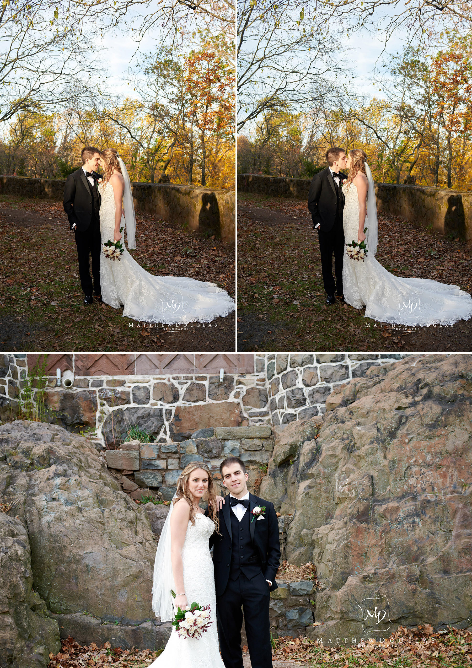 bride and groom photo at garret mountain