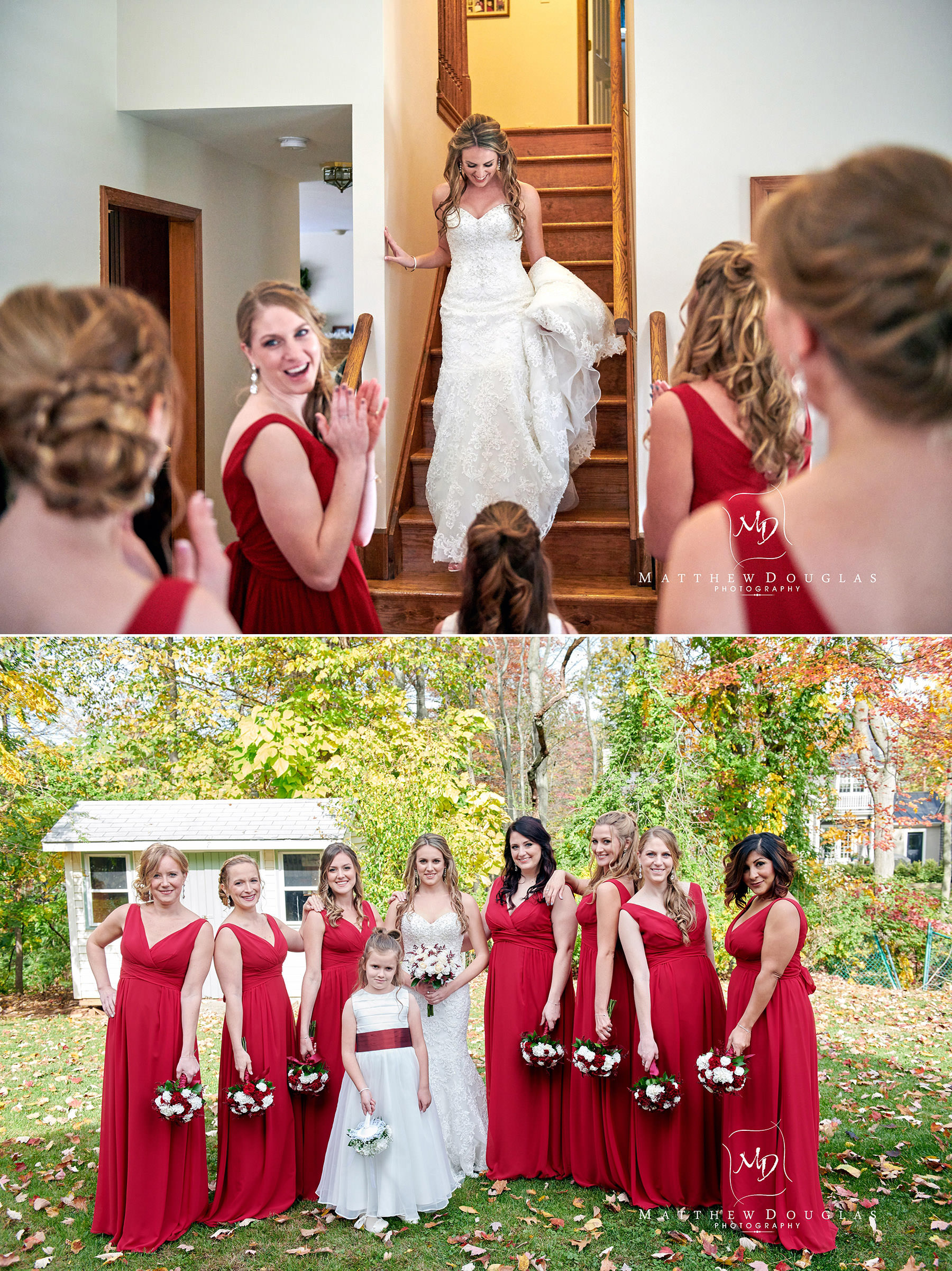 bridesmaid reaction wedding photo