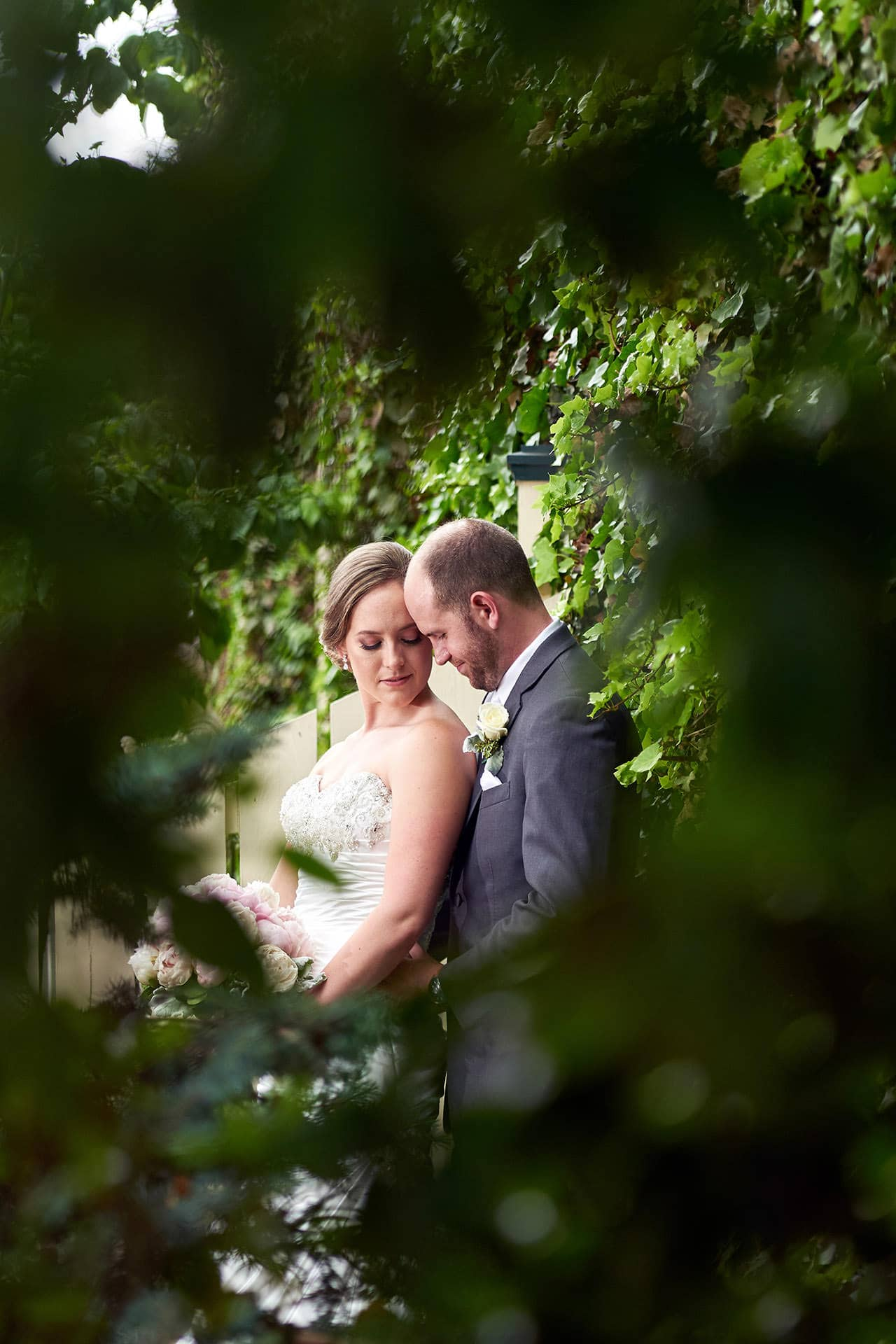 romantic davids country inn wedding photo