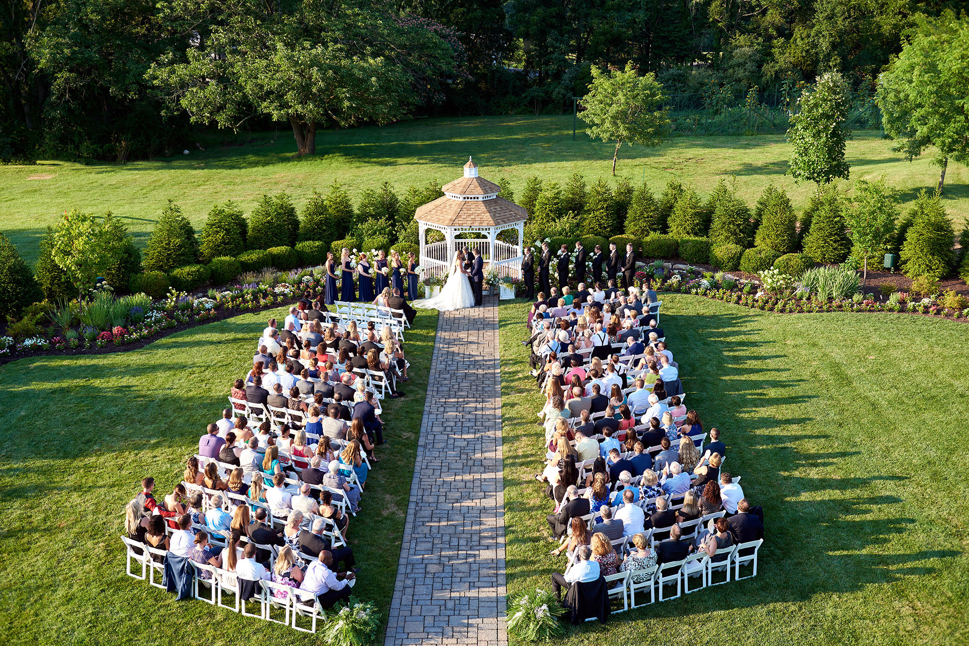 farmhouse grand colonial wedding ceremony site photo