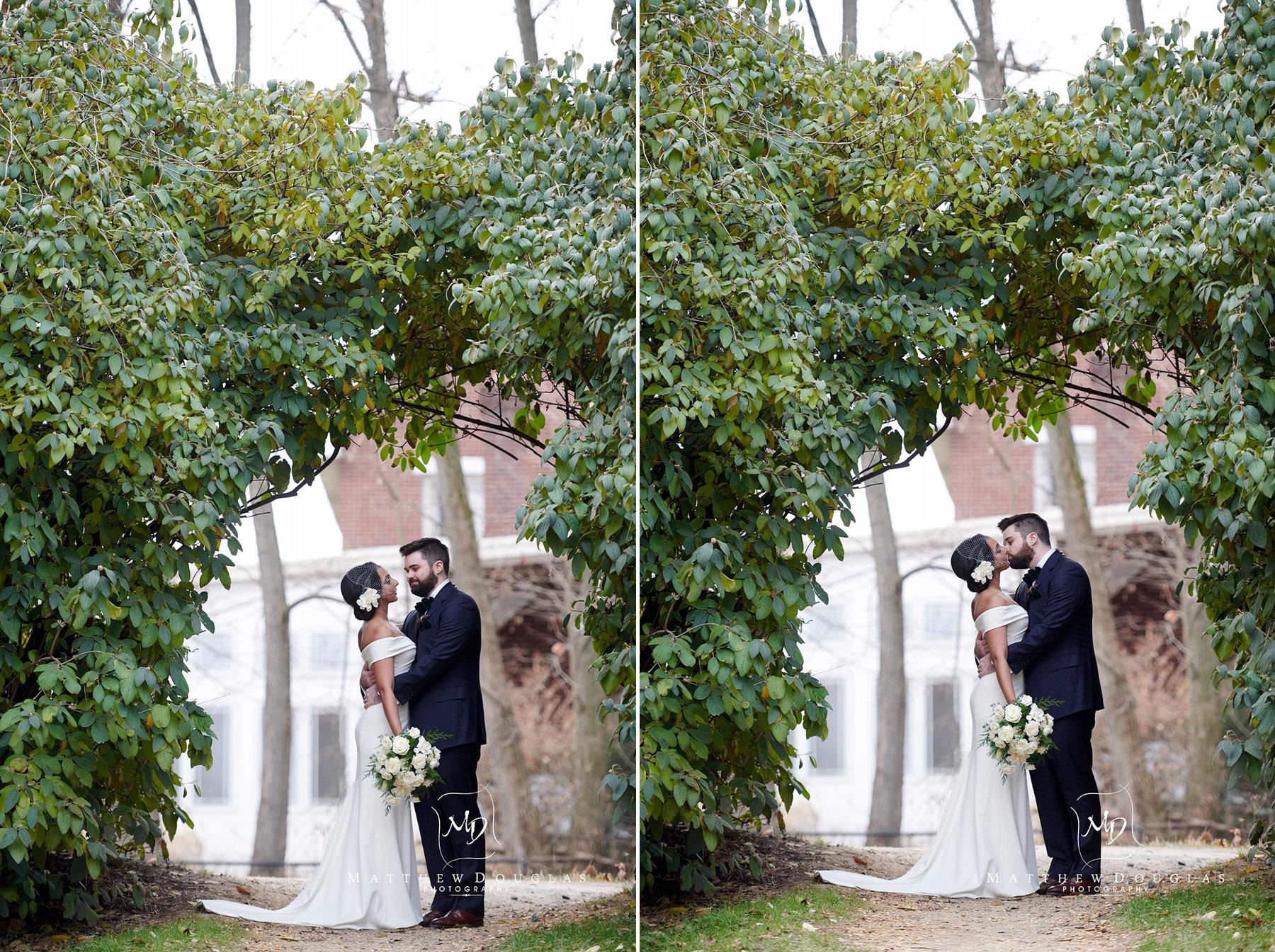 wedding photo on lambertville towpath