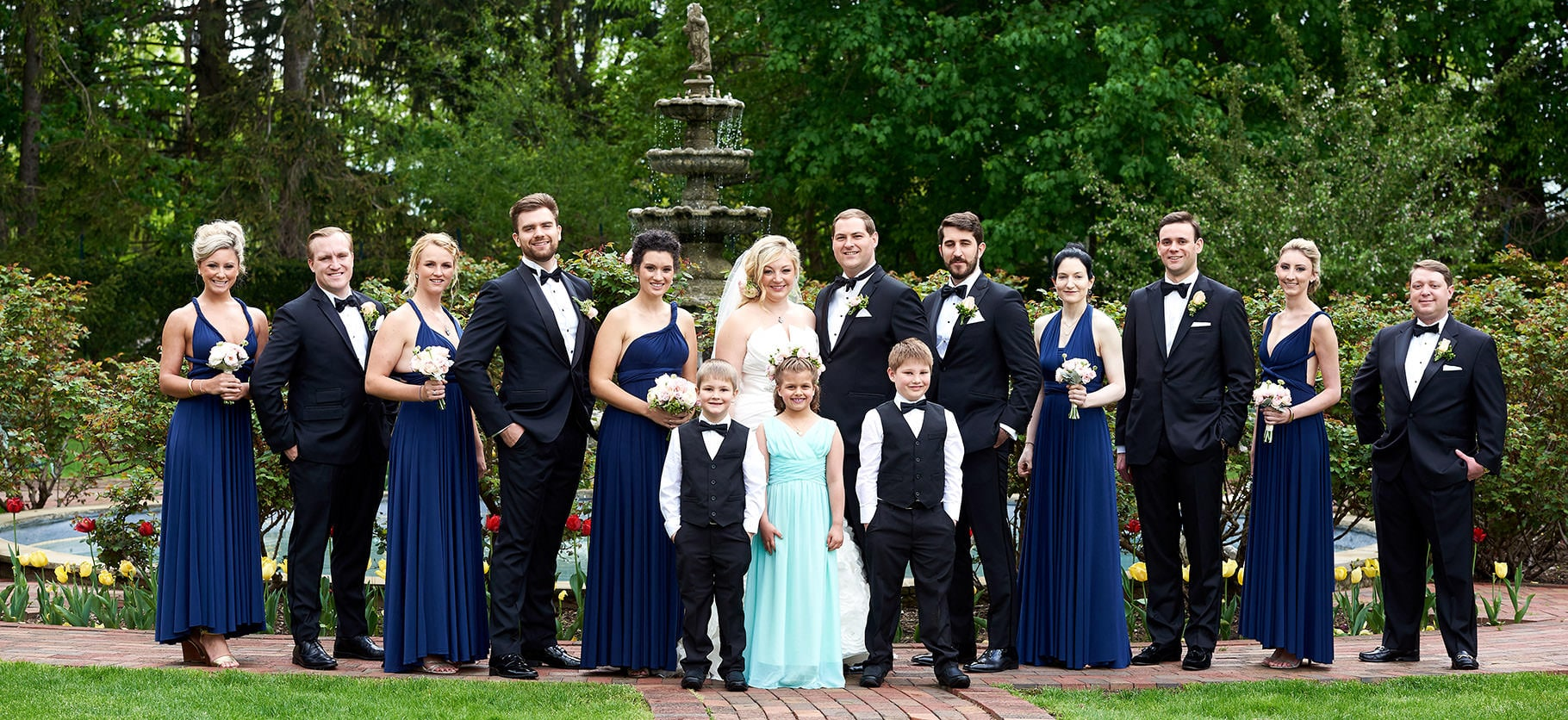 wedding party photo the manor nj