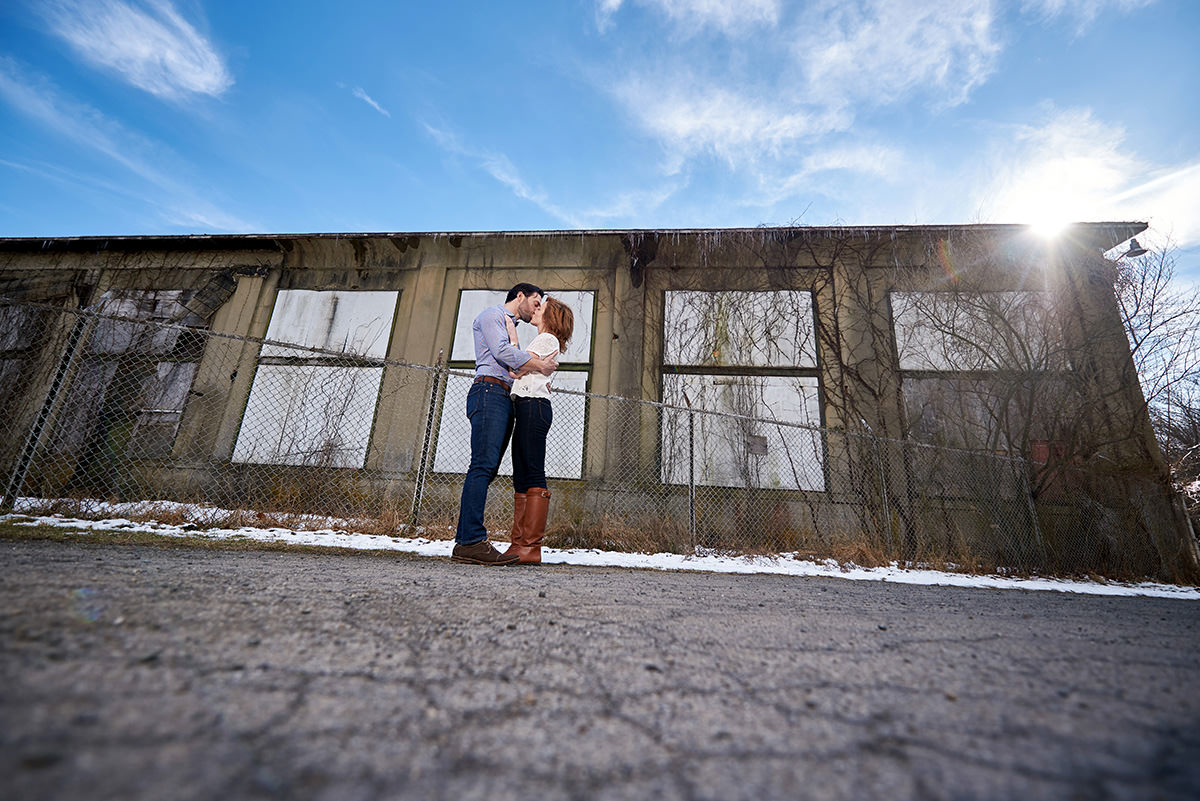 winter engagement photo clinton nj