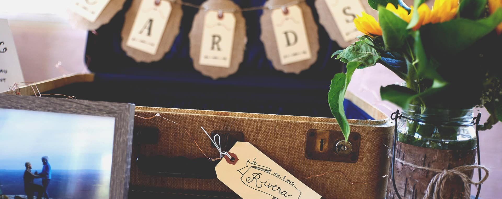 rustic wedding details photo